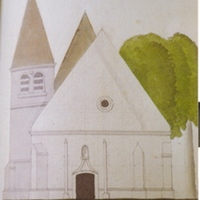 Drawing of St Eloi Entrance