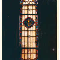 West Rittenhouse Square Chapel Window with Eucharist