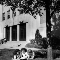 Notre Dame High School - Chicago, Entrance with Students Studying