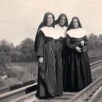 Hamilton Sisters on Railroad Tracks