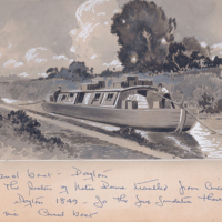 Franklin Street - Dayton, Canal Boat Painting