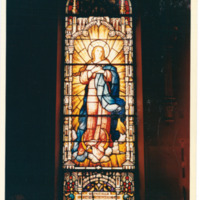 West Rittenhouse Square Chapel Window with Mary