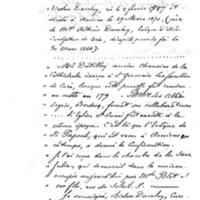 Confirmation of Julie's residence 1787