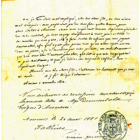 Letter from Bishop Demandolx to St Julie, 1812-11-01