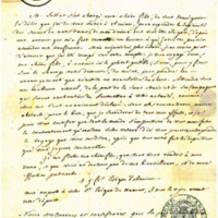 Letter from Bishop Demandolx to St Julie, 1812-09-23