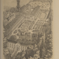 Sketch of school at Nouveau-Bois